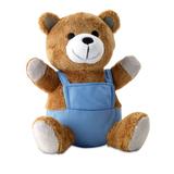 Игрушка плюшевый медведь, синий фото