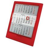 Календарь настольный на 2 года ; прозрачно-красный; 12,5х16 см; пластик; тампопечать, шелкография фото