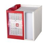 Календарь настольный на 2 года с кубариком, белый, красный фото