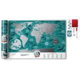 Карта travel map marine world, синий фото