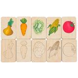 Карточки-раскраски Wood Games, овощи фото