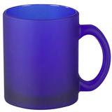 Кружка керамическая матовая, синяя фото