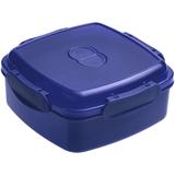 Лачбокс Cube, квадратный, синий фото