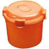Ланч бокс Barrel Roll, круглый, оранжевый фото