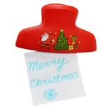 Магнит-клип новогодний с музыкой, красный фото