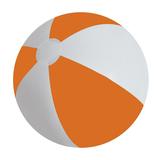 Мяч надувной ЗЕБРА, оранжевый фото