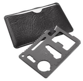 Мультиинструмент WICAX в чехле, чёрный/ серебряный/серый фото