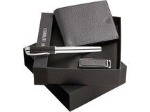 Набор: портмоне, ручка роллер, флеш-карта на 2 Гб фото
