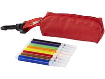 Набор цветных маркеров, красный, разноцветный фото