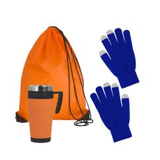 Набор подарочный Зимняя прогулка, синий, оранжевый фото