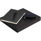 Набор Riverside (ежедневник, аккумулятор, ручка), черный фото