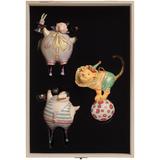 Набор из 3 елочных игрушек Circus Collection: фокусник, силач и лев фото