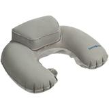 Надувная подушка Global TA с подголовником, серая фото