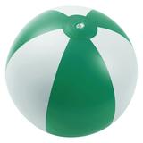 Надувной пляжный мяч Jumper, зеленый с белым фото