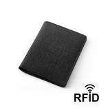 Обложка для паспорта и кредиток с RFID - защитой от считывания данных, черный фото