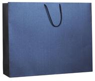 Пакет бумажный Блеск, большой, синий фото
