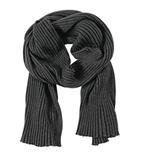 Палантин Mono, черно-серый фото