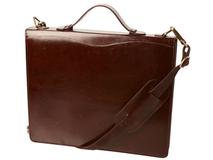 Папка-портфель, коричневый  фото