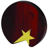 Плакетка наградная Звезда, золотой, коричневый фото