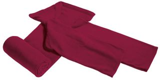 Плед с рукавами Lazybones, бордовый фото