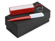 Подарочный набор Essentials Umbo с ручкой и зарядным устройством, красный фото