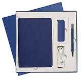 Подарочный набор Portobello/Latte синий-2 (Ежедневник недат А5, Ручка, Power Bank) фото