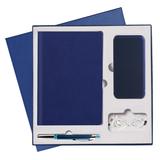 Подарочный набор Portobello/Latte синий (Ежедневник недат А5, Ручка, Power Bank) фото