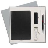 Подарочный набор Portobello/River Side-3 черный-красный (Ежедневник недат А5, Ручка, Power Bank) фото