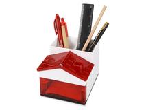 Подставка Милый домик, белый, красный фото