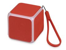 Портативная колонка Cube с подсветкой, красная фото