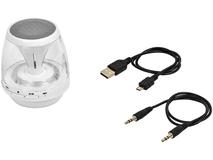Портативная колонка Rave Light Up с функцией Bluetooth, белая фото