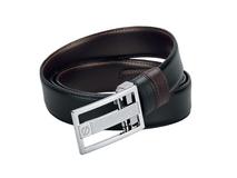 Ремень Business Chic, черный, коричневый фото