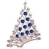 Сборная елка Новогодний ажур, с синими шариками фото