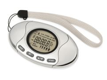 Шагомер со счетчиком калорий Marathon, серебристый фото