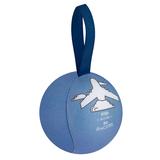 Шарик-антистресс с пожеланием «Самолет», голубой фото