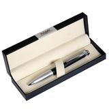 Шариковая ручка Megapolis, черная/серебро, в коробке с логотипом фото