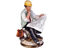 Скульптура Инженер, разноцветный фото