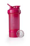 Спортивный шейкер с контейнером ProStak, розовый (малиновый) фото