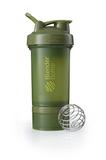 Спортивный шейкер с контейнером ProStak, зеленый (оливковый) фото