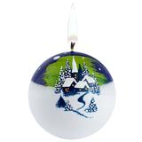 Свеча ручной работы Северное сияние, в форме шара фото