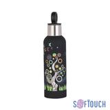 """Термобутылка """"Бабочки"""" с объемной UF печатью по окружности, покрытие soft touch фото"""