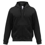 Толстовка мужская Hooded Full Zip черная, черный фото
