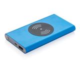 Тонкий беспроводной внешний аккумулятор на 4000 мАч, 5W, синий фото