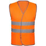 Жилет светоотражающий Reflector, оранжевый неон фото