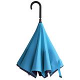 Зонт трость наоборот механический Unit ReStyle, темно-синий/голубой фото