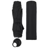 Зонт складной Floyd с кольцом, черный фото