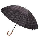 Зонт-трость Big Boss, серый в клетку фото