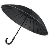 Зонт трость механичсеский 24 спицы Ella, черный фото