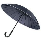 Зонт трость механичсеский 24 спицы Ella, темно-синий фото