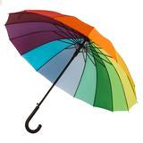 Зонт-трость Радуга (полуавтомат), разноцветный фото